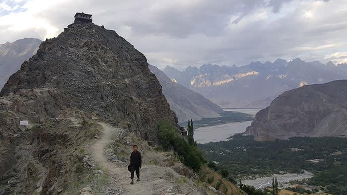 Looking down towards the Shyok river, close to Khaplu