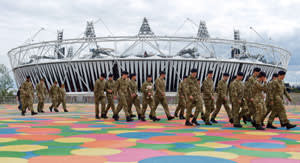 Armed forces step in to secure the 2012 London Olympics