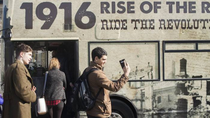 The 'Rise of the Rebels' bus tour in Dublin, which commemorates Ireland's Easter Rising of 1916