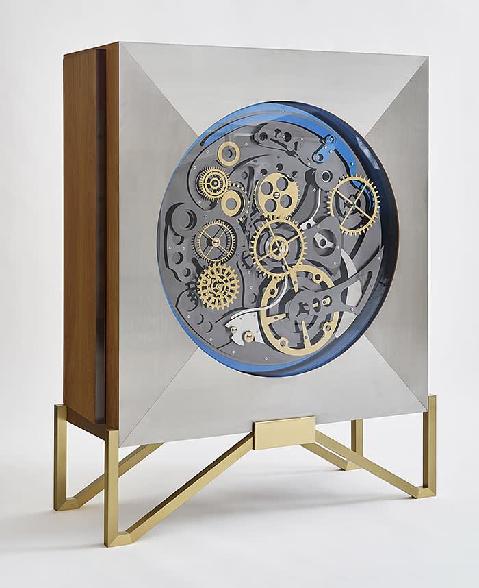 Cabinet Engrenage by Maria Pergay 2016 at Demisch Danant courtesy of Demisch Danant