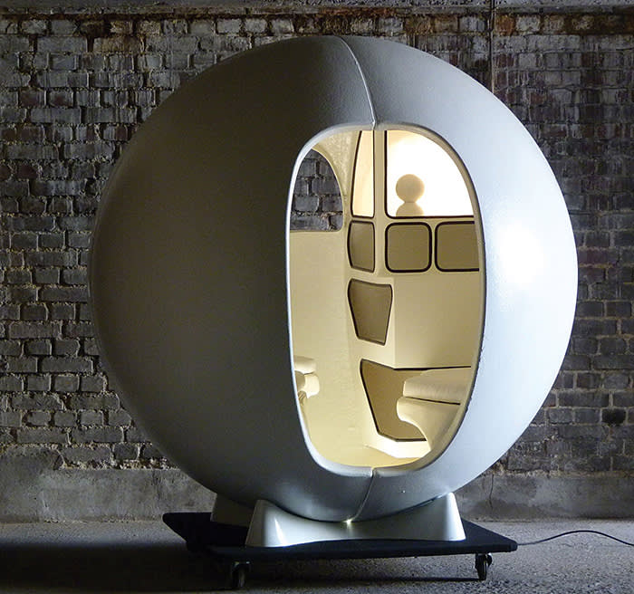 Isolation Sphere by Maurice-Claude Vidili, 1972, at Maison Gerard,  courtesy of Maison Gerard