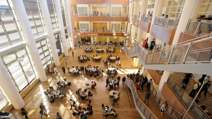 Gies College of Business in Indiana as a part of the University of Indiana. Press image. No credit necessary.