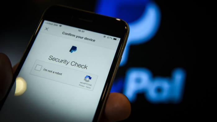 The PayPal application is seen on an iPhone in this photo illustration on June 18, 2018. (Photo by Jaap Arriens/NurPhoto via Getty Images)
