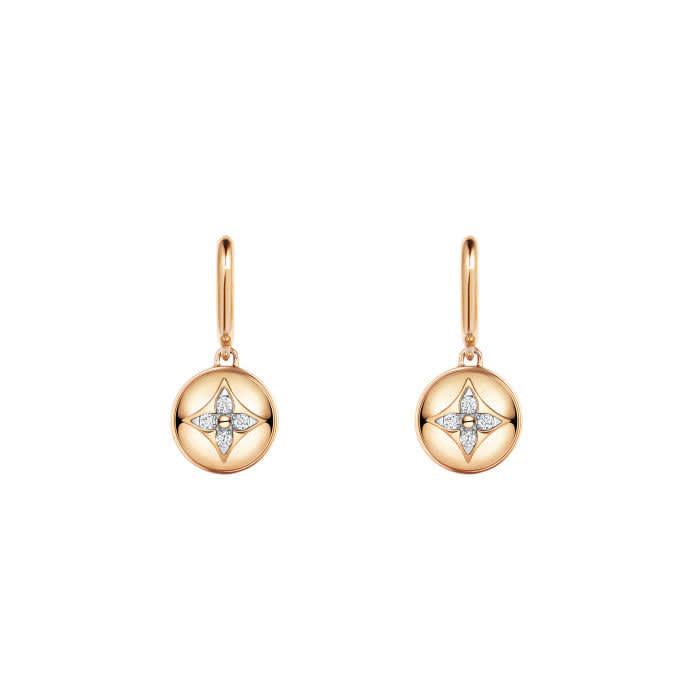 B Blossom earrings — Pink and white gold and diamonds, €4,900