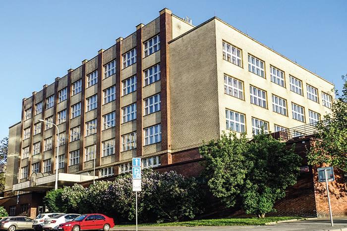 MK5XWX University of Economics, old bulding in Zizkov, Prague, Czech Republic