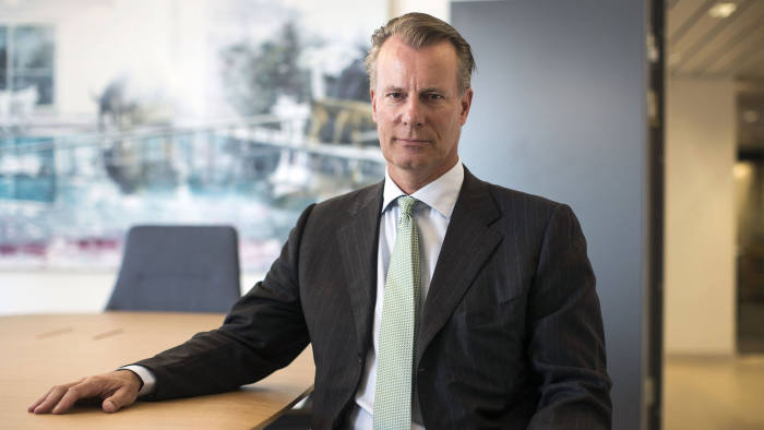 Johan H. Andresen, billionaire and owner of Ferd AS, poses for a photograph at his company headquarters in Oslo, Norway, on Thursday, Oct. 1, 2015. Andresen, chairman of Norway's Council on Ethics that sets ethical guidelines for the world's biggest wealth fund, says he hasn't initiated a study into the car industry after it emerged that Volkswagen AG was cheating on emissions tests. Photographer: Simon Dawson/Bloomberg