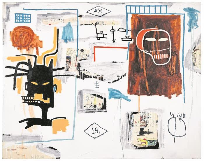 Lot 28 Jean-Michel Basquiat, Apex, 1986, est. available upon request