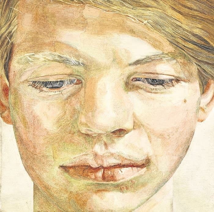 Lot 14 Lucian Freud, Head of a Boy, 1956, est. £4,500,000-6,500,000 (without frame)