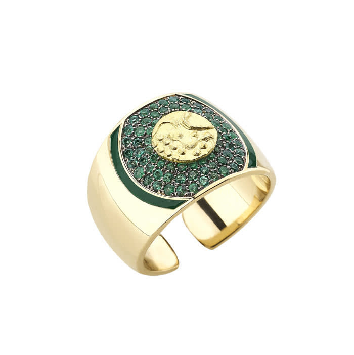 Francesca Villa Fanam emeralds ring, £4,200, info@francescavilla.it