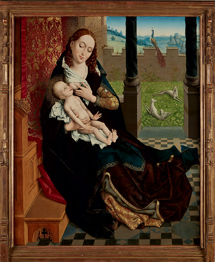 'Nursing Madonna' (c1480-1510) by the Master of the Embroidered Foliage