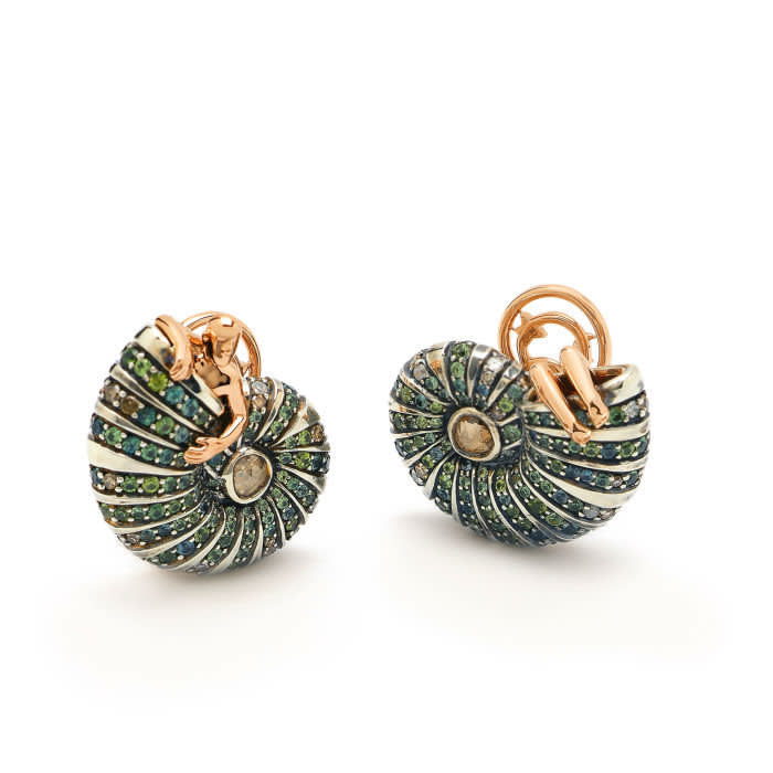 Bibi van der Velden's 'Poseidon's Getaway' earrings, £7,060, bibivandervelden.com