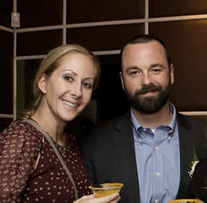 """Gabe MacConaill with his wife Joanna Litt in November 2013. MacConaill, a junior partner at law firm Sidley Austin, died by suicide in October 2018 after an intensely stressful period at work. Litt subsequently published an article entitled """"Big Law Killed My Husband"""""""