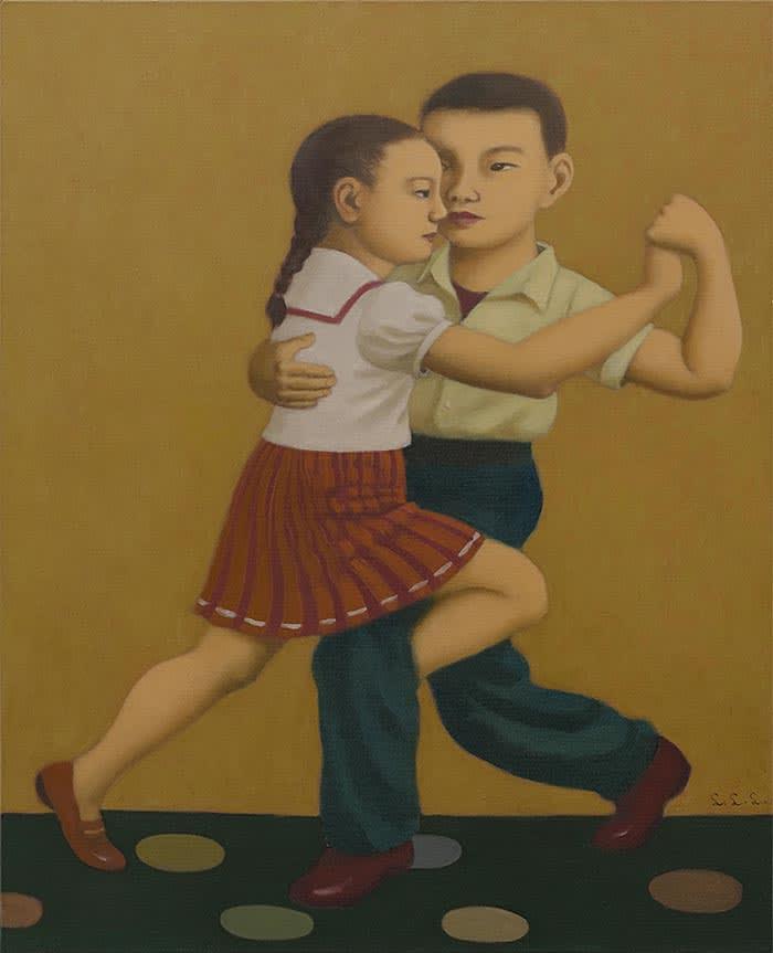 Lin Li Ling, Tango, Oil on canvas 81 x 100 cm 2018 Courtesy of Caves Art Center