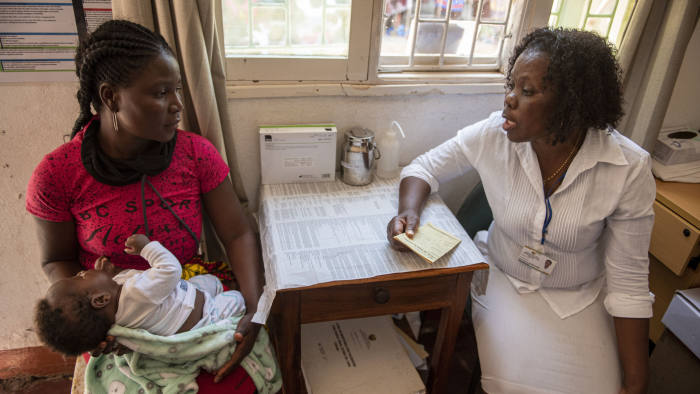 """Elizabeth Glaser Pediatric AIDS Foundation (EGPAF) These are photos from their point-of-care early infant diagnosis (POC EID) project Photos should be credited, """"Photo by Eric Bond/Elizabeth Glaser Pediatric AIDS Foundation 2019"""""""