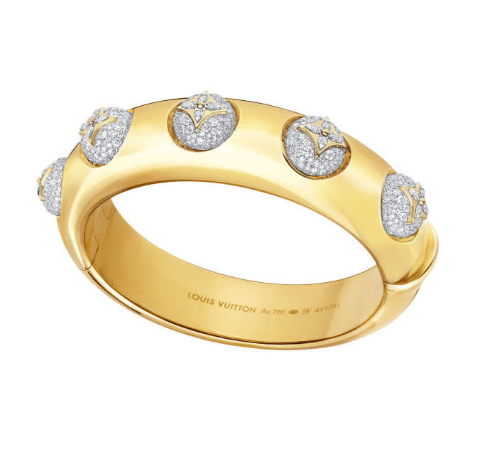 B Blossom yellow and white gold and pavé diamonds cuff, €45,000