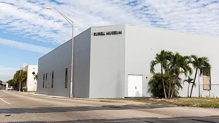 The Rubells photographed for The FT by Melanie Metz at the Rubell Museum, Miami.