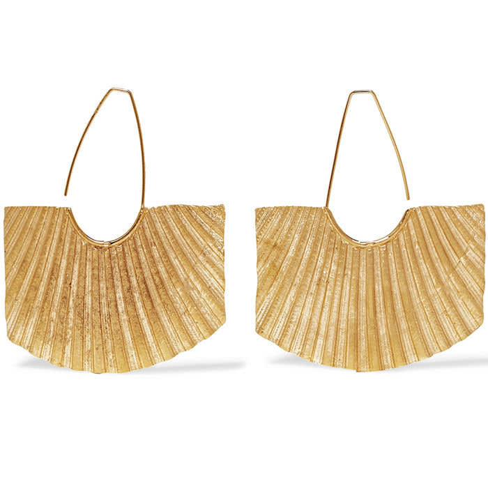 1064 Studio's Gold-plated earrings, £215, net-a-porter.com