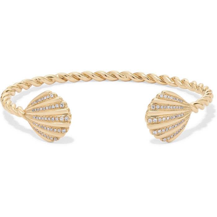 Yvonne Léon's 18ct gold and diamonds bracelet, £2,376, yvonneleon.com