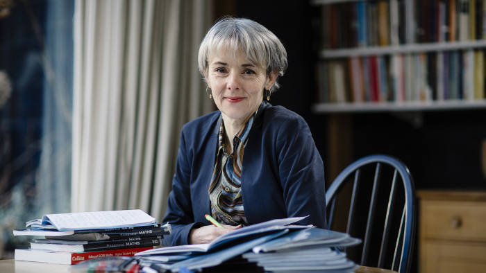 Lucy Kellaway at home photographed for the FT by Greg Funnell