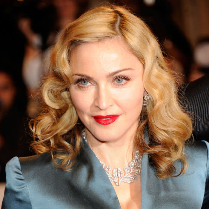 """NEW YORK, NY - MAY 02: Madonna attends the """"Alexander McQueen: Savage Beauty"""" Costume Institute Gala at The Metropolitan Museum of Art on May 2, 2011 in New York City. (Photo by Kevin Mazur/WireImage)"""