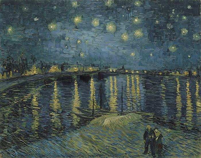 Vincent van Gogh (1853 – 1890) Starry Night Over the Rhone 1888 Oil paint on canvas 725 x 920 mm Paris, Musée d'Orsay Photo (C) RMN-Grand Palais (musée d'Orsay) / Hervé Lewandowski Vincent van Gogh (1853