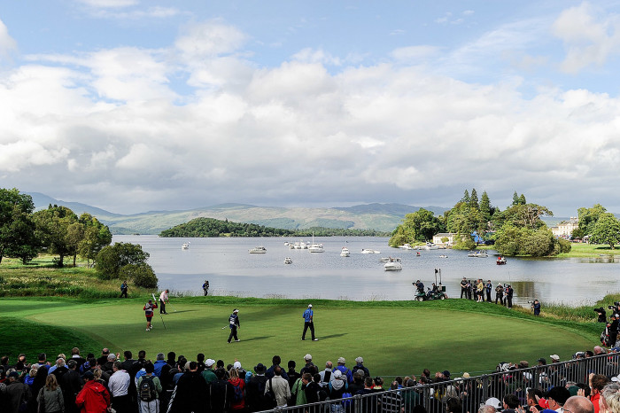 LUSS, SCOTLAND - JULY 11: Darren Clarke of Northern Ireland putts on the 17th green during round four of The Barclays Scottish Open at Loch Lomond Golf Club on July 11, 2010 in Luss, Scotland. (Photo by Harry How/Getty Images)