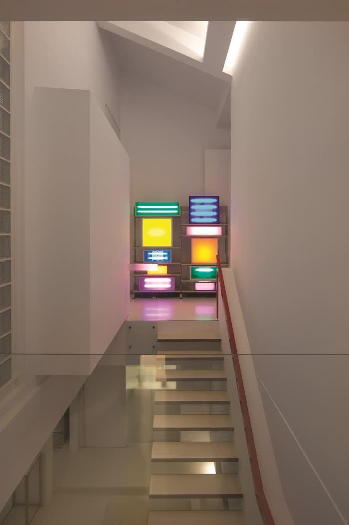 Rudy Tseng's home in Taipei Artwork: David Batchelor, Brick Lane II