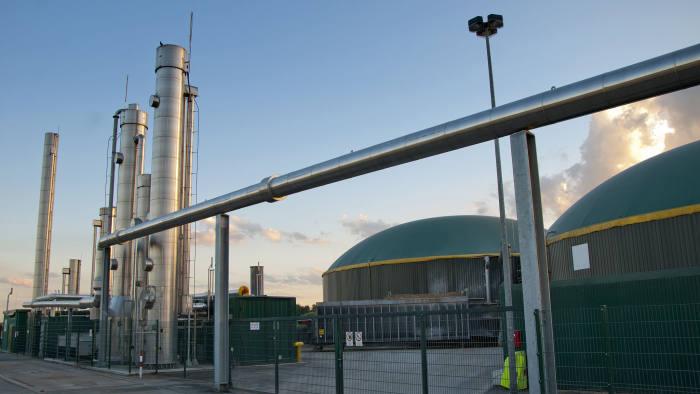 Part of a biogas plant