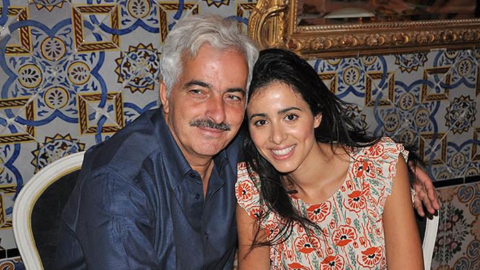 Kamel Lazaar (l) and Lina Lazaar (r) co-founders of the the Kamel Lazaar Foundation