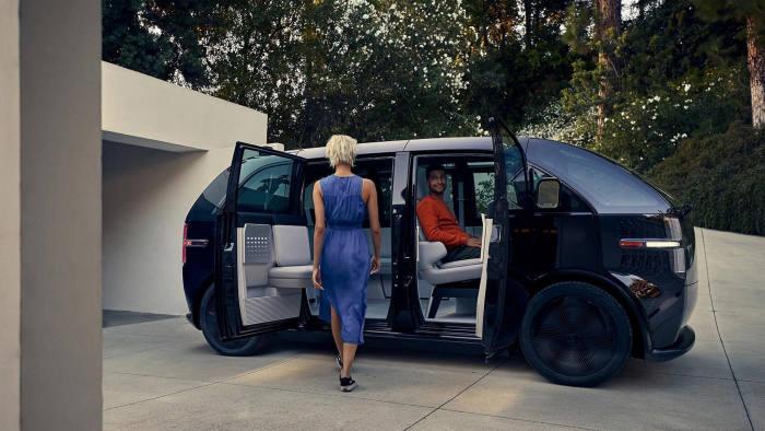 Press images of car subscription service Canoo.