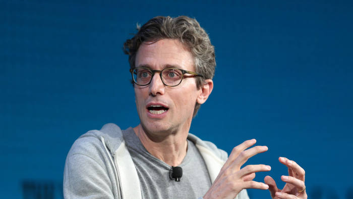 Jonah Peretti, Founder and CEO, Buzzfeed, speaks at the Wall Street Journal Digital Conference in Laguna Beach, California, U.S. October 18, 2017. REUTERS/Lucy Nicholson
