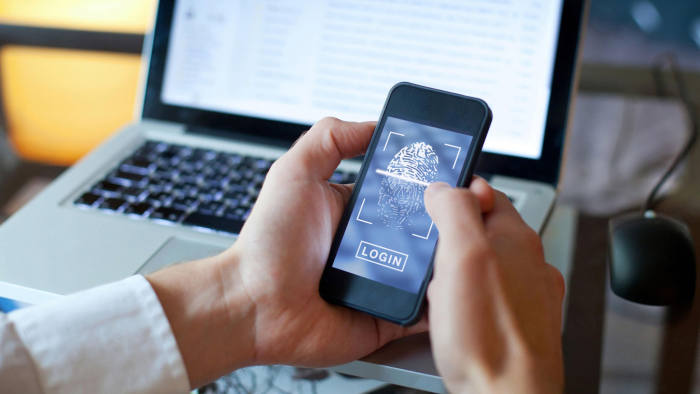 KHDF8G fingerprint login access on smartphone, data security