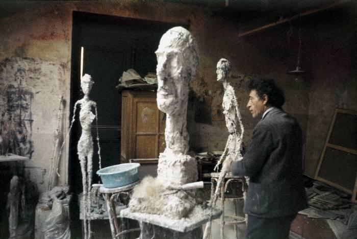 Alberto Giacometti at work