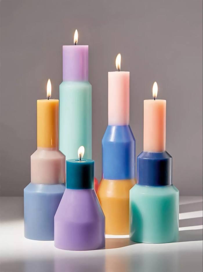 Hay Pillar candles by Lex Pott, £39 each, selfridges.com