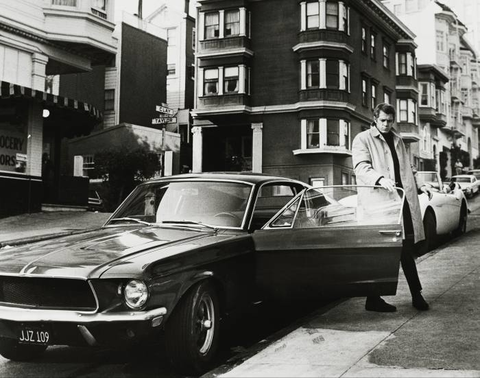 Steve McQueen with the Ford Mustang