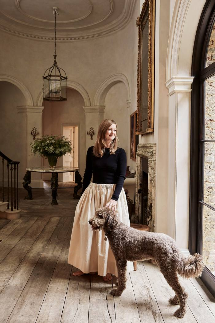 """""""Errol was a gift from a friend who couldn't keep him,"""" says interior decorator Rose Uniacke of her standard poodle. """"I first met him on FaceTime. He was very handsome and passed the interview with flying colours. He behaves, less like a dog and more like an elegant Edwardian gentleman."""""""