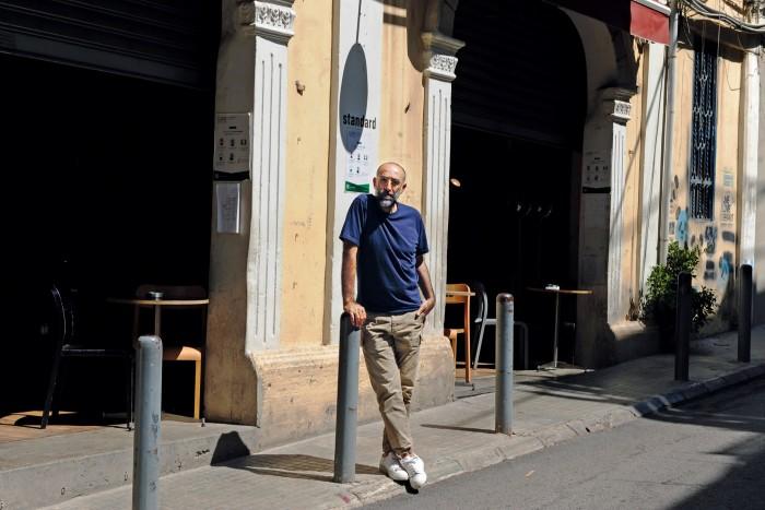Rabih Kayrouz outside his atelier in Beirut