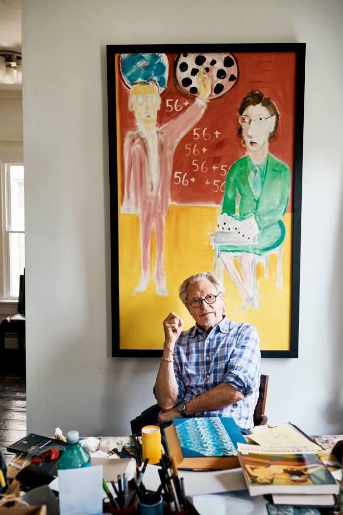 Director, memoirist and painter Michael Lindsay-Hogg in his studio
