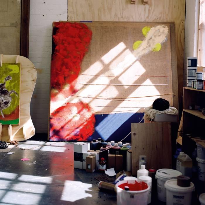 "Barrington's ""Untitled Red Hibiscus Carib Sea"" (unfinished 2021)"