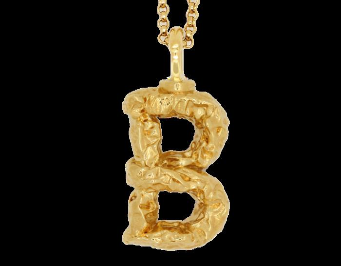 Chloé brass alphabet necklace, £290