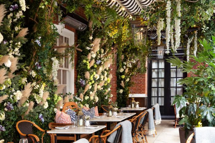 Dining at Dalloway Terrace in Bloomsbury