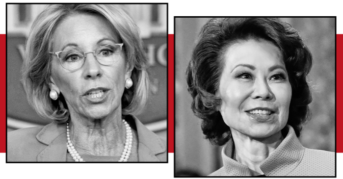 Betsy DeVos, the secretary of education, and Elaine Chao, the secretary of transportation, resigned after the events on Wednesday