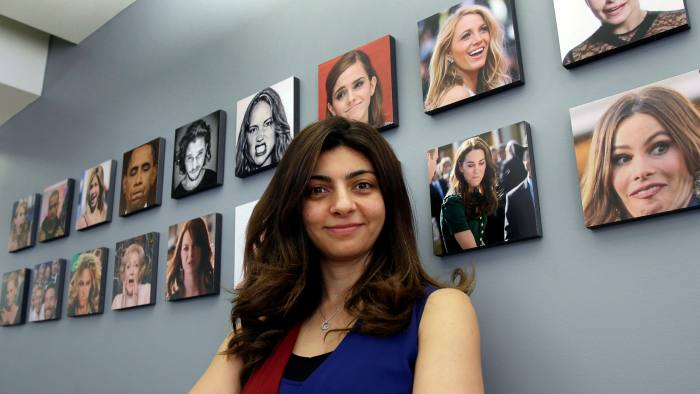 Rana el Kaliouby at her offices in Boston: Affectiva builds face-scanning technology for detecting emotions, but its founders decline business opportunities that involve spying on people