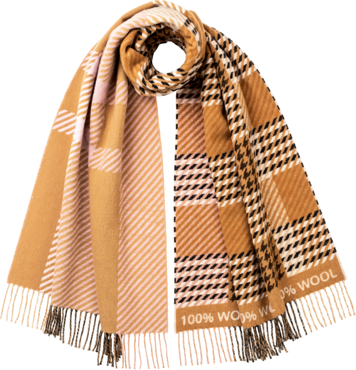The Campaign for Wool 10th Anniversary scarf (Amy Powney x Johnstons of Elgin), £150. All profits to The Prince's Foundation Future Textiles initiative