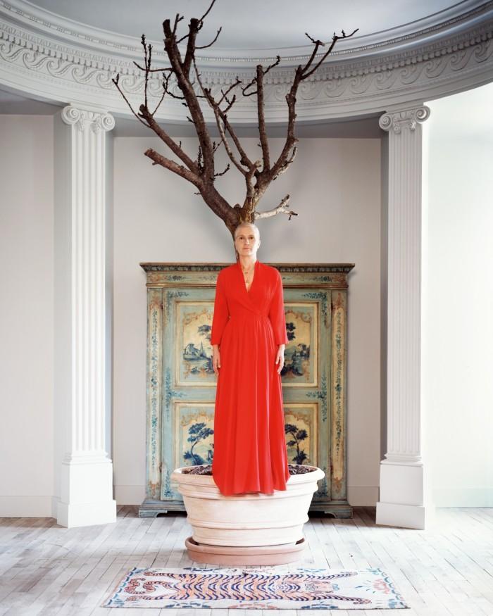 Maria Grazia Chiuri, photographed at her homein Rome