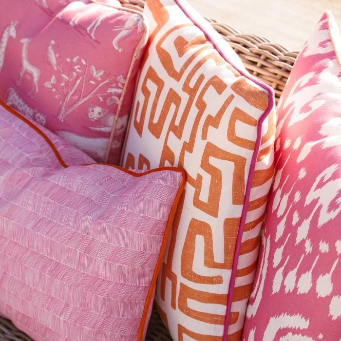 From left: Andrew Martin Kingdom Lava, Delta Lava, Reef Lava and Volcano Tropic cushions, £70 each