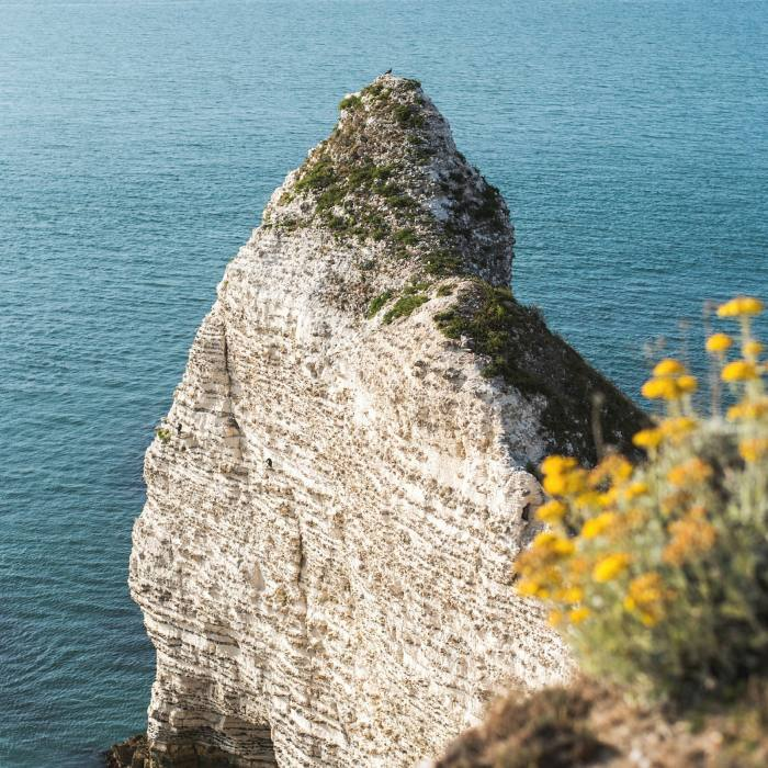 Étretat's cliffs are a five-minute walk from the hotel