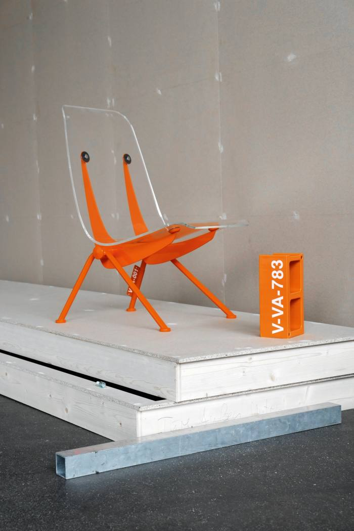 Part of the Vitra furniture collaboration, shown at Abloh's installation TwentyThirtyFive at the Vitra Campus, 2019