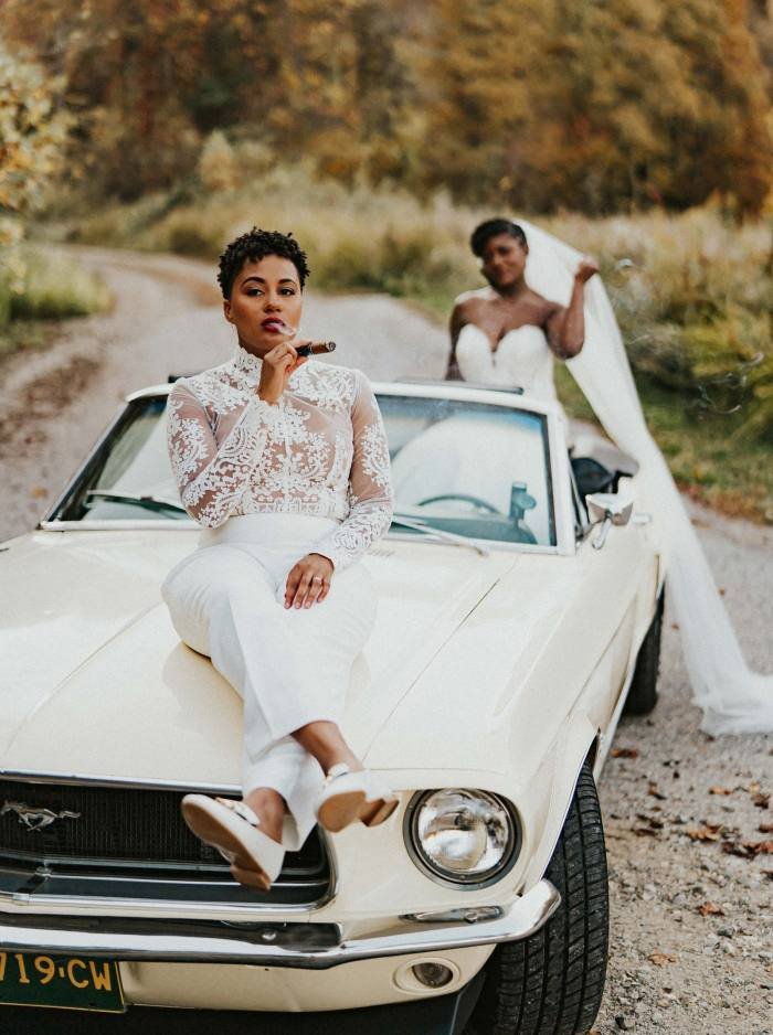 Wedding of Adrienne Glover and her wife Brittany