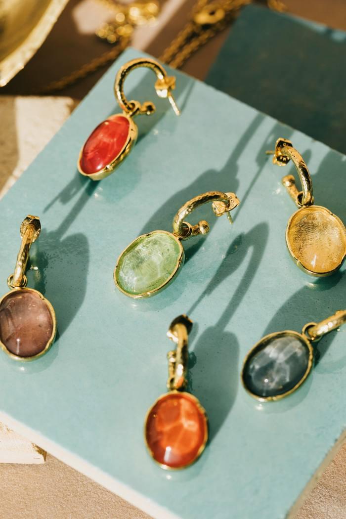 Goossens Talisman Cabochon earrings, £125 each
